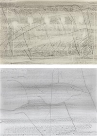 two works: (i) 15.4.1999 , 1999; (ii) 27.4.1999 (3) [99/14] by gerhard richter